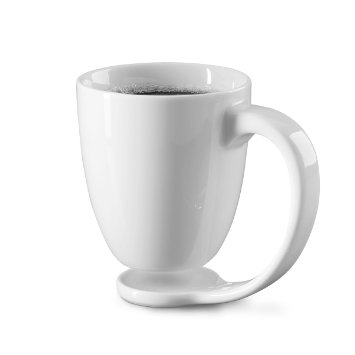 Floating Mug White Coffee Cup And Coaster Perfect For Morning Latte Amazon.Co.Uk Kitchen Home