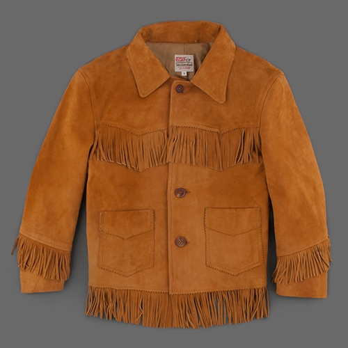 Mill Mercantile Levi's Vintage Clothing 1950S Fringed Leather Jacket In Brown Suede