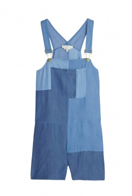 Paul Joe Sister Quadrille Short Colour Block Dungarees By Paul Joe Sister