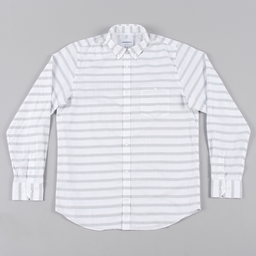 Norse Projects Anton Nautical Cotton L S Shirt Pale Grey