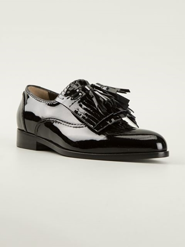 Lanvin Fringed Loafers Liska Farfetch.Com