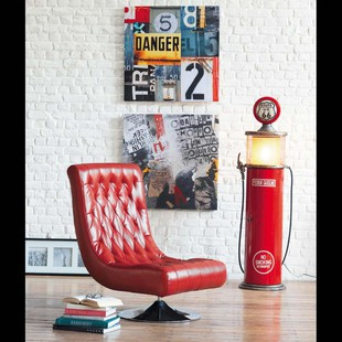 Red armchair BOSSLEY Armchairs Maisons du Monde