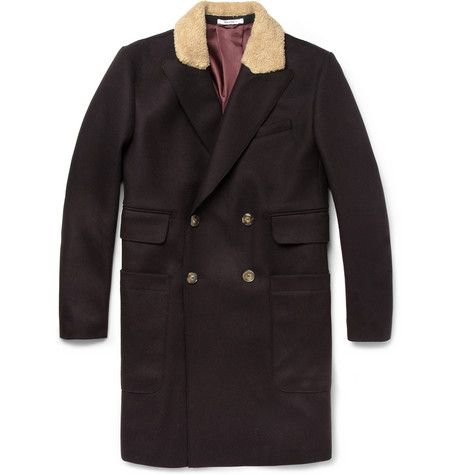 Carven Contrast Collar Wool Blend Coat MR PORTER