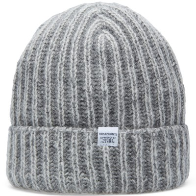 Norse Projects Twisted Yarn Beanie Light Grey Melange