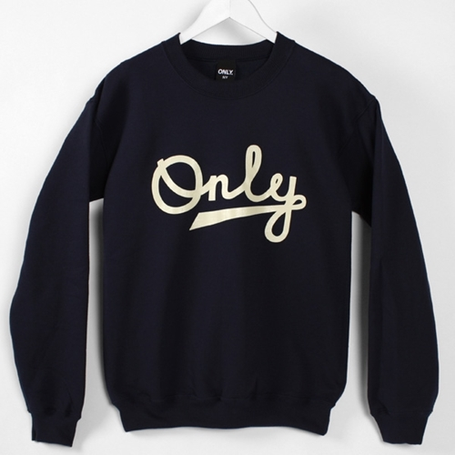 Cuban Script Crewneck Navy