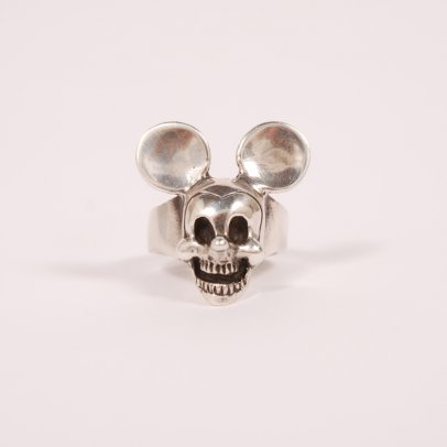 Dog State Silver Mickey Mouse Ring