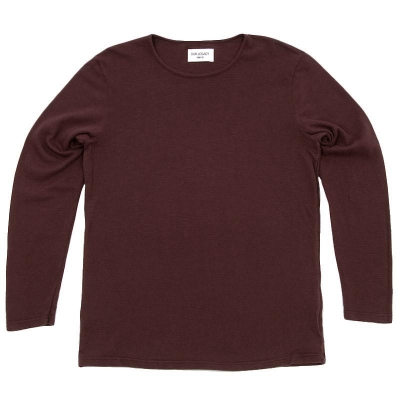 Our Legacy Crepe Long Sleeve Tee Burgundy