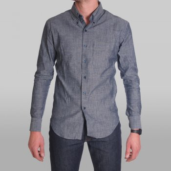 Naked Famous Shirt Slim Lightweight Chambray Buy Mens Designer Clothes At Denim Geek Online