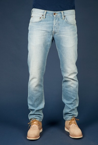 Tenue de Nimes Edwin ED 55 Relaxed Shuttle Denim Fader Wash