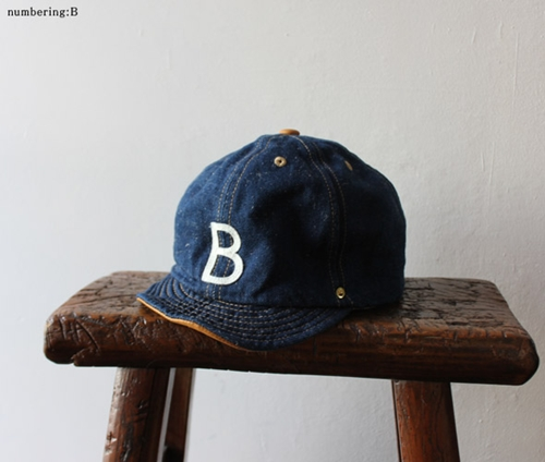 DECHO ANACHRONORM HEAVY HEMP DENIM AND LEATHER BALL CAP