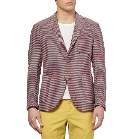 Slowear Montedoro Giacco Slim Fit Unstructured Knitted Cotton Blazer Mr Porter