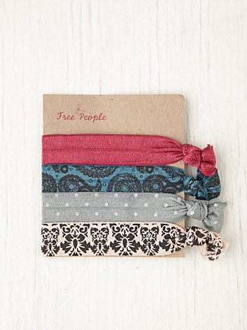 Free People Elastic Printed Hair Ties at Free People Clothing Boutique