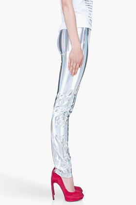 Hussein Chalayan Holographic Leggings for women SSENSE