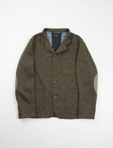 Olive Jersey Knit Knit Blazer Engineered Garments