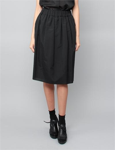 Creatures Of Comfort Boon Skirt Grid Black