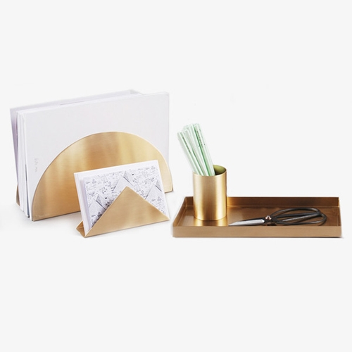 Brass Desk Organizers Poketo