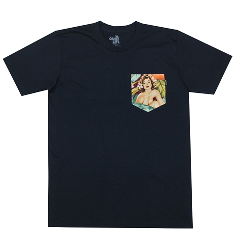 The Quiet Life Mahalo Girls Pocket T Shirt In Navy Huh. Store