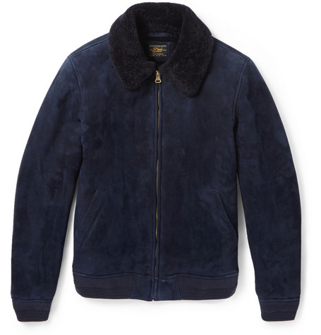 J.Crew Shearling Bomber Jacket Mr Porter