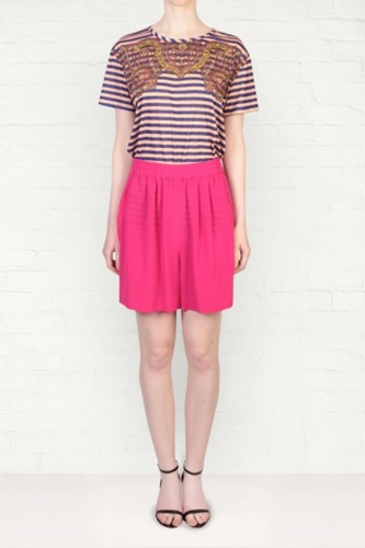 Sonia By Sonia Rykiel Pink Silk Shorts