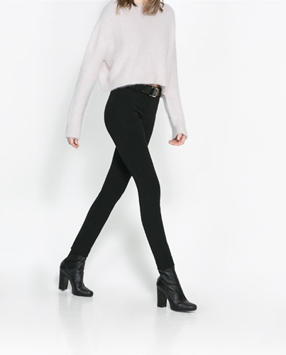 High Waist Studio Leggings Trousers Woman Zara United Kingdom