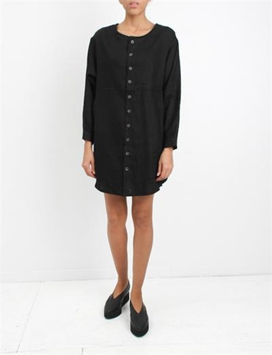 69 Whatever Dress 1 Black Linen