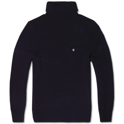 Acne Chet Pocket Roll Knit Navy