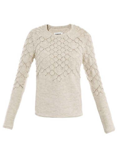 Fish scale knit sweater Maison Martin Margiela Mm6 Matches