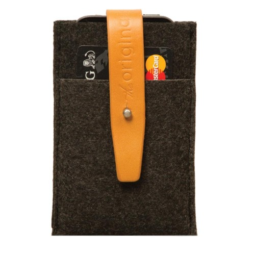 Mujjo Phone Wallet Brown Grey Undscvrd