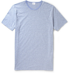 Sunspel Striped Cotton Jersey T Shirt