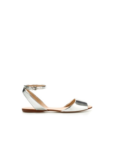BASIC SANDAL Flat sandals Shoes Woman ZARA United Kingdom