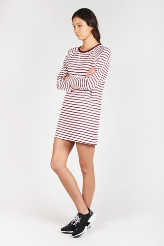 Good As Gold Online Clothing Store Mens Womens Fashion Streetwear Nz Night Call Dress Ivory Maroon Stripe