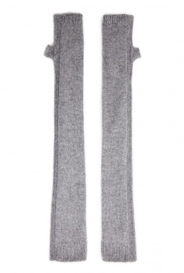 Helmut Lang Grey Lux Cashmere Fingerless Gloves By Helmut Lang