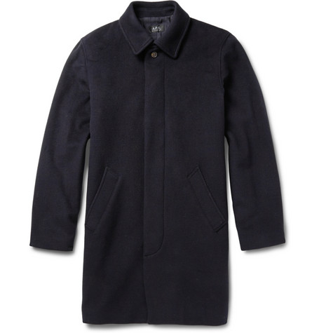 A.P.C. Wool Blend Overcoat Mr Porter