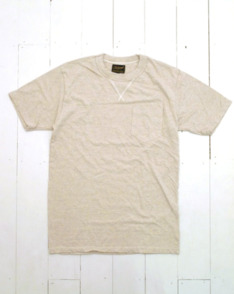 Oatmeal Gusset Pocket Tee by National Anthem available to buy at The Bureau Belfast