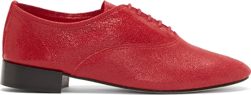 Repetto Red Cracked Leather Zizi Oxfords Ssense