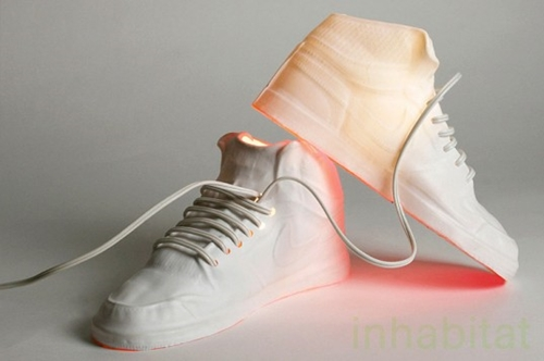 Cheeky Sneaker shaped Lamp by Frances Ranno Lightens Up NY Design Week Inhabitat Green Design Will Save the World