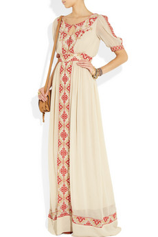 ALICE by Temperley Beatrice embroidered crepe maxi dress NET A PORTER COM