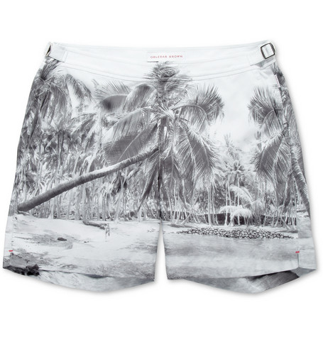 Orlebar Brown Bulldog Mid Length Palm Print Swim Shorts Mr Porter