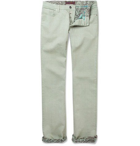 Etro Slim Cut Cotton Blend Jeans MR PORTER