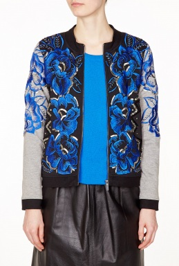 Anhha Floral Embellished Zip Up Jacket By Anhha