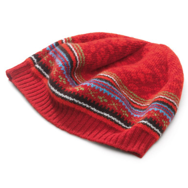 Eribe Fair Isle Ladies' Lambswool Cap Manufactum
