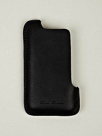 Rick Owens iPhone Holder in black at oki ni