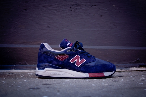 New Balance 998 Navy Burgundy Sneaker Kith Nyc