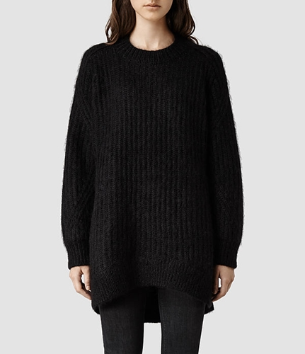 Womens Casse Sweater Black Allsaints.Com