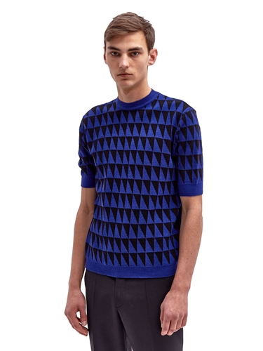 Raf Simons Men's Short Sleeved Jacquard Knit Ln Cc