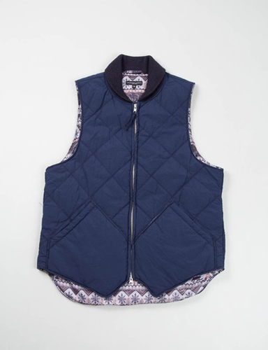 Navy Nyco Poplin Primaloft Liner Vest Engineered Garments