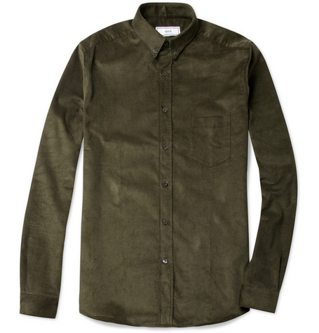 Ami Button Down Collar Corduroy Shirt MR PORTER