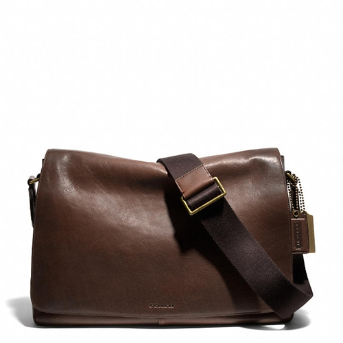 Coach Bleecker Legacy Courier Bag In Leather