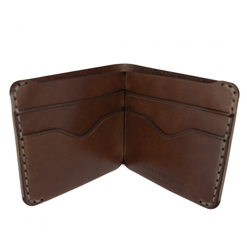Billfold Wallet In Bark Horween Chromexcel Hf Leather Made In Usa
