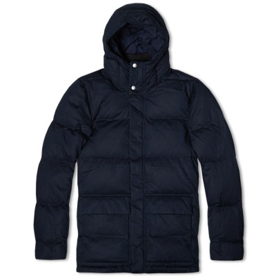 Norse Projects Willum Down Poplin Jacket Dark Navy